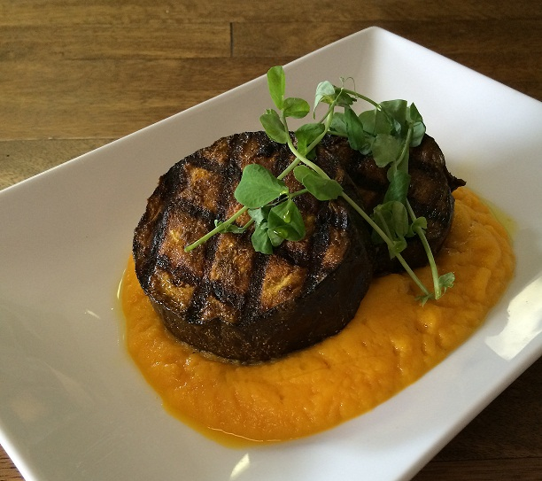 Curried Eggplant Steak with Ginger Carrot Puree from www.fernflavors ...